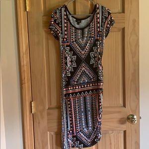 Tribal Pattern Midi Dress size M